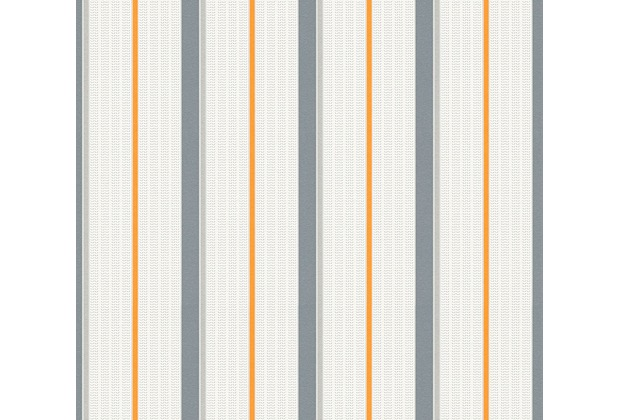 esprit kids Vliestapete Tapete grau orange weiß 357073 10,05 m x 0,53 m