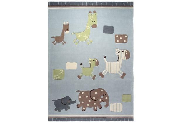 ESPRIT Kinderteppich Lucky Kinderteppich Zoo ESP-2842-02 blau 70 x 140 cm