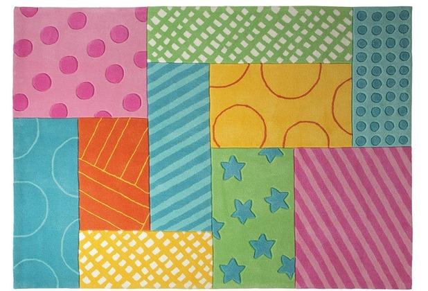 ESPRIT Kinderteppich Patchwork Garden ESP-3815-02 70cm x 140cm