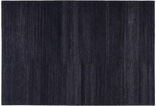 ESPRIT Handwebteppich Rainbow Kelim ESP-7708-12 schwarz 60 cm x 110 cm