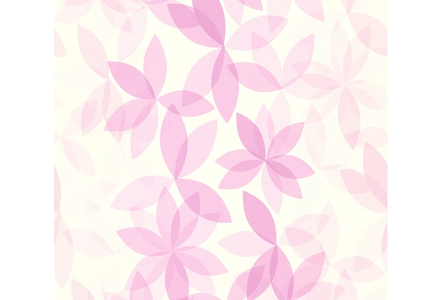 ESPRIT Vliestapete Cool Noon Tapete mit Blumen floral weiß lila 10,05 m x 0,53 m