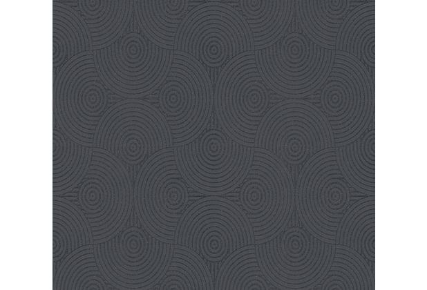ESPRIT Vliestapete Minimalistic Authenticity Tapete metallic schwarz 357154 10,05 m x 0,53 m