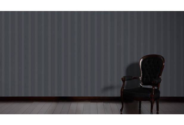 ESPRIT Vliestapete Minimalistic Authenticity Tapete metallic schwarz 10,05 m x 0,53 m