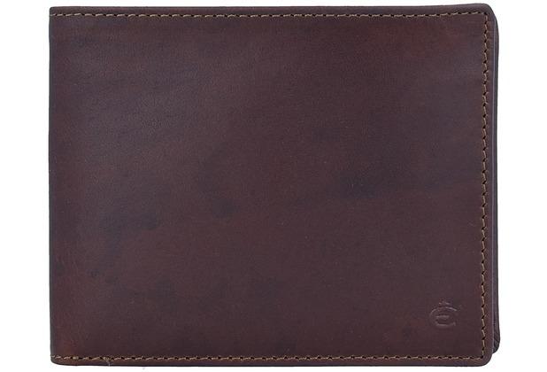 Esquire Dallas Geldbörse Leder 12 cm braun