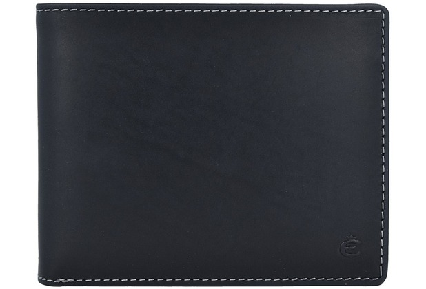 Esquire Dallas Geldbörse Leder 12 cm schwarz