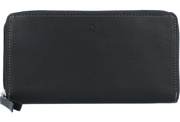 Esquire Dallas Geldbörse Leder 19 cm schwarz