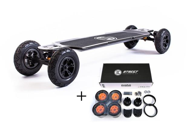 Evolve Carbon GT 2-in-1 Bundle  E-Skateboard mit GT Street Conversion Kit