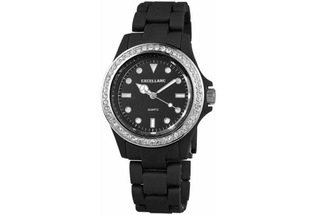 Excellanc Damenuhr mit Kunststoffband - schwarz 225181000003