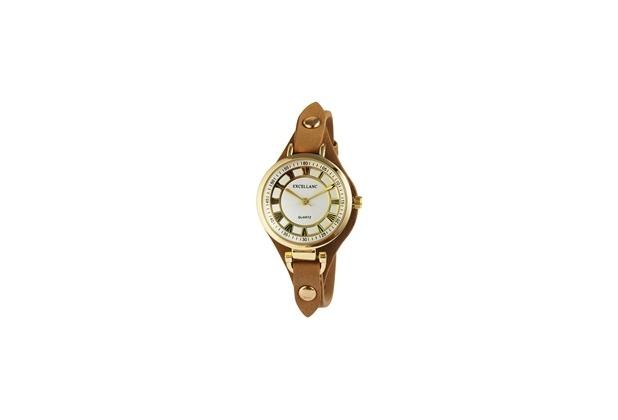 Excellanc Damenuhr mit Lederimitationarmband 1900021-005