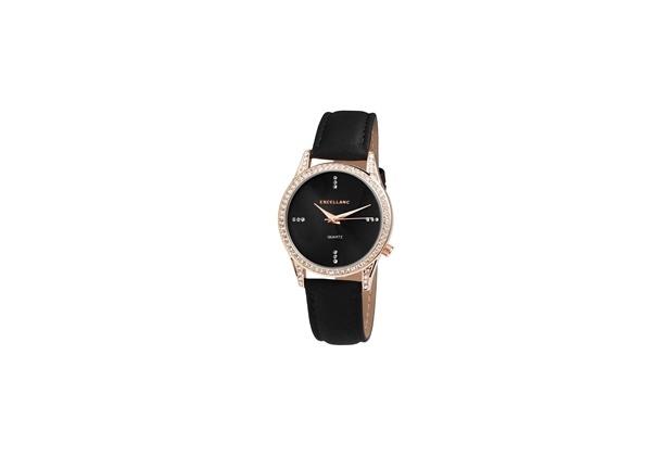 Excellanc Damenuhr mit Lederimitationsarmband 1900060-002