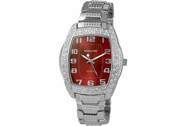 Excellanc Hip-Hop Uhr mit Metallband - silber 280527000005
