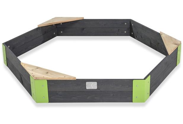 EXIT Aksent Holzsandkasten sechseckig 160x140cm