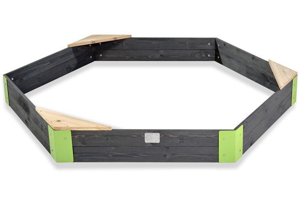 EXIT Aksent Holzsandkasten sechseckig 200x170cm