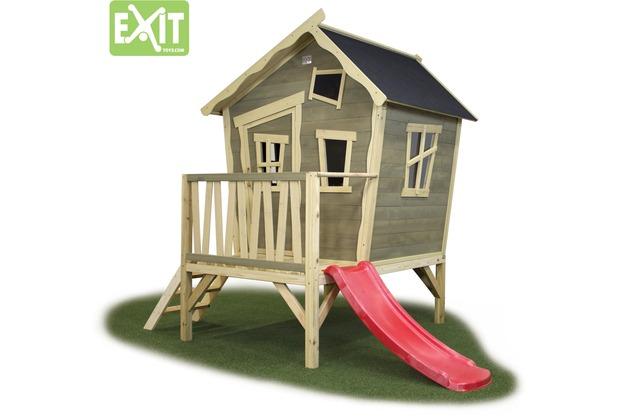 EXIT Crooky 300 Holzspielhaus - graubeige