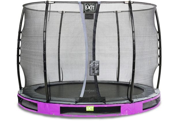 EXIT Elegant Inground-Trampolin ø305cm mit Economy Sicherheitsnetz - lila