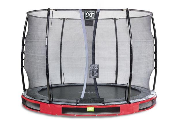 EXIT Elegant Inground-Trampolin ø305cm mit Economy Sicherheitsnetz - rot