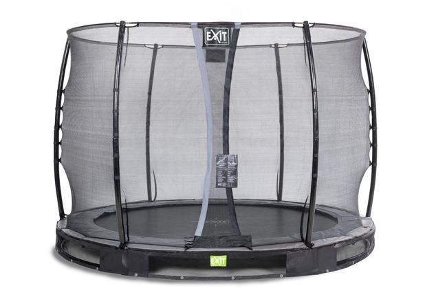 EXIT Elegant Inground-Trampolin ø305cm mit Economy Sicherheitsnetz - schwarz