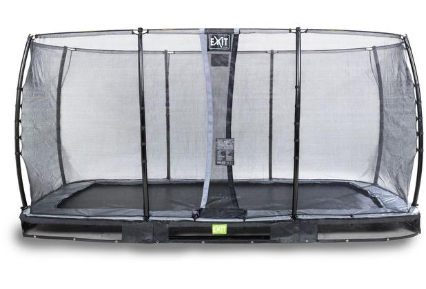 EXIT Elegant Premium Inground-Trampolin 244x427cm mit Economy Sicherheitsnetz - schwarz
