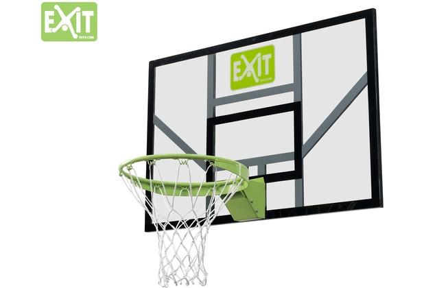 EXIT Galaxy Basketballbrett mit Dunkring und Netz - grün/schwarz
