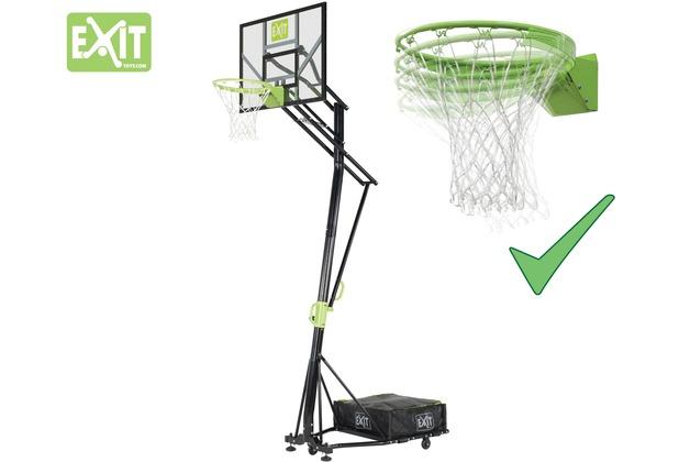 EXIT Galaxy versetzbarer Basketballkorb auf Rädern mit Dunkring - grün/schwarz