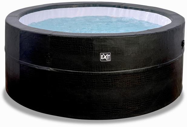 EXIT Leather Premium Whirlpool ø184x73cm - schwarz
