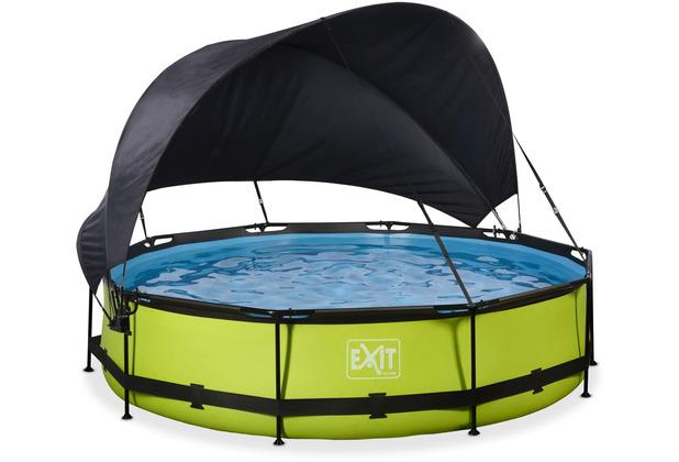 EXIT Lime Pool mit Sonnensegel und Filterpumpe - grün ø360x76cm