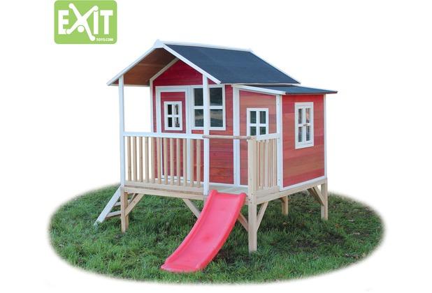EXIT Loft 350 Holzspielhaus - rot