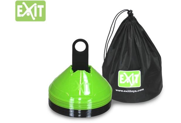 EXIT Markierkegel (20 Stück) - grün/schwarz