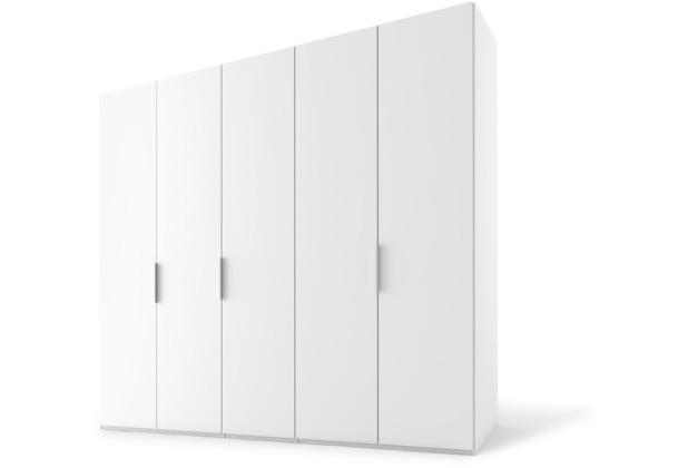 Express Möbel Drehtürenschrank SWIFT 5-türig, Korpus Polarweiss und Front Polarweiss Dekor 216 x 250 x 68