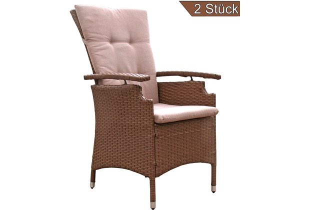 famous home 2 st ck polyrattan sessel coffee gartensessel hochlehner braun ebay. Black Bedroom Furniture Sets. Home Design Ideas