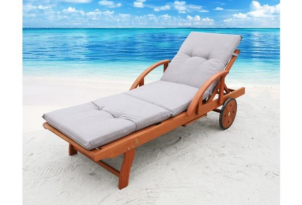 Famous Home Auflage Sand für Gartenliege Liegestuhl  Sonnenliege Relaxliege Polster Lanzarote Sand