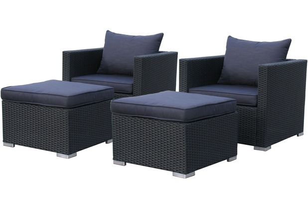 famous home rattan lounge 10tlg loungem bel gartenm bel rattanm bel pepe schwarz schwarz. Black Bedroom Furniture Sets. Home Design Ideas