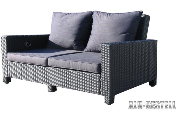 Wondrous Famous Home Rattan Lounge Sofa 200Cm Couch Futon Couchgarnitur Schwarz Schwarz Interior Design Ideas Greaswefileorg