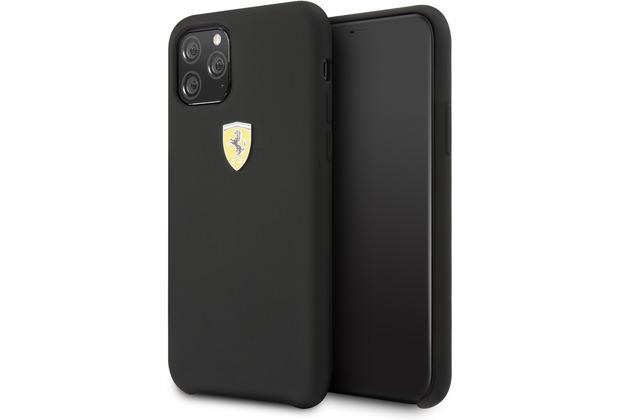 Ferrari On Track - SF - Silikon Case W Logo Shield - Apple iPhone 11 - Schwarz - Schutzhülle Hülle Handyhülle