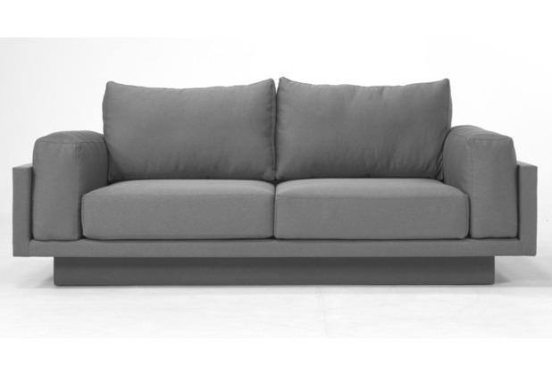 FEYDOM CLOUD-B 2.5 Sitzer Sofa Schlafsofa Day.Bed, Mittelgrau