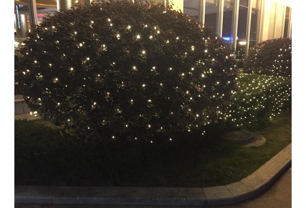 FHS LED Balkonlichtnetz 4x1m, 160 warmweiße LED´s, Zuleitung 5m