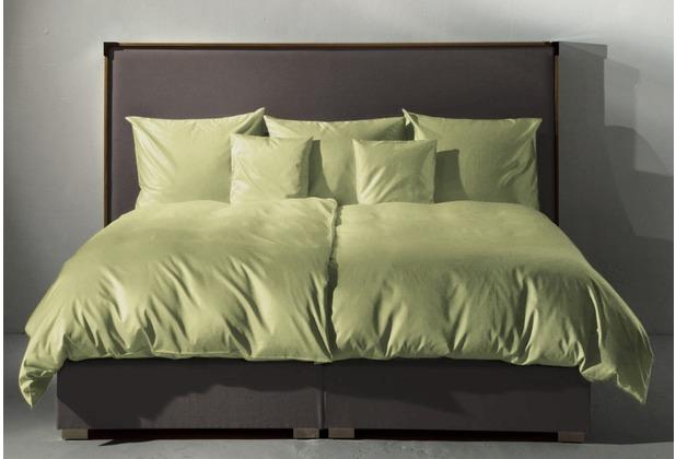 fischbacher bettw sche 105 satin gr n 845. Black Bedroom Furniture Sets. Home Design Ideas