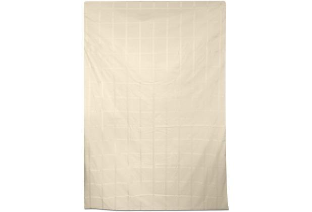 Fischbacher Satin 685 Karo 27 beige Bettbezug 135 x 200 cm