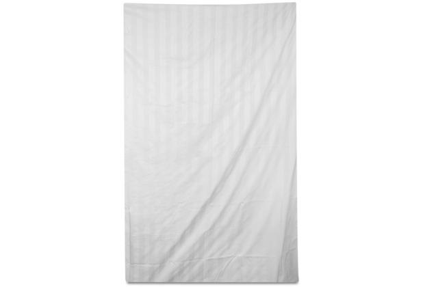 Fischbacher Satin 730 Streifen 10 weiß Bettbezug 135 x 200 cm