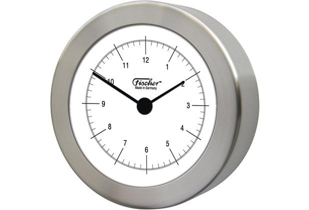 Fischer Messtechnik Quarzuhr, Edelstahl matt 103 mm