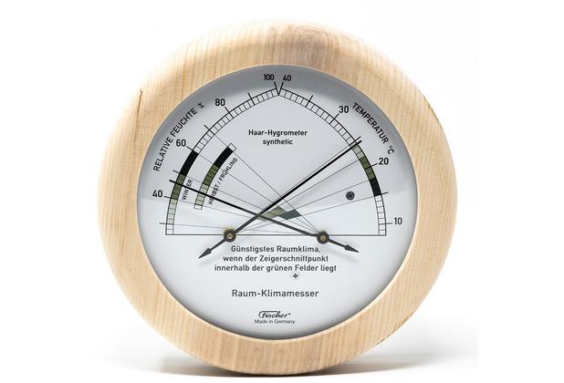 Fischer Messtechnik Zirben Wohnklima-Hygrometer mit Thermometer