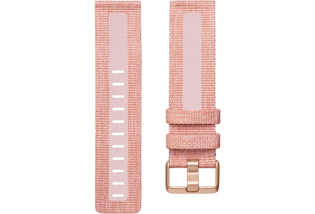 FitBit Versa 2, Woven Band, Pink, Small