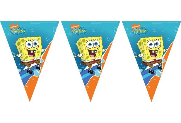 "PROCOS Flaggenbanner mit Motiv \""SpongeBob Surfing\"", 11 Flaggen"