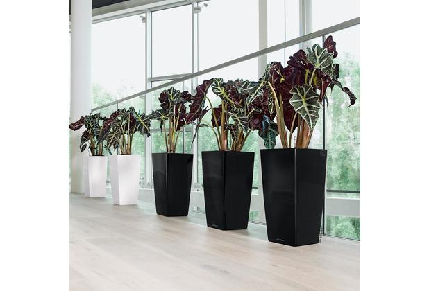 fleur ami Blumentopf Cubico, 50x50/95 cm, schwarz, inkl. Bewässerungsset