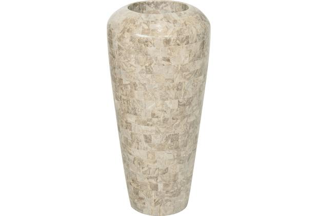 fleur ami Blumentopf innen Geo, 35/72 cm, cappuccino marble