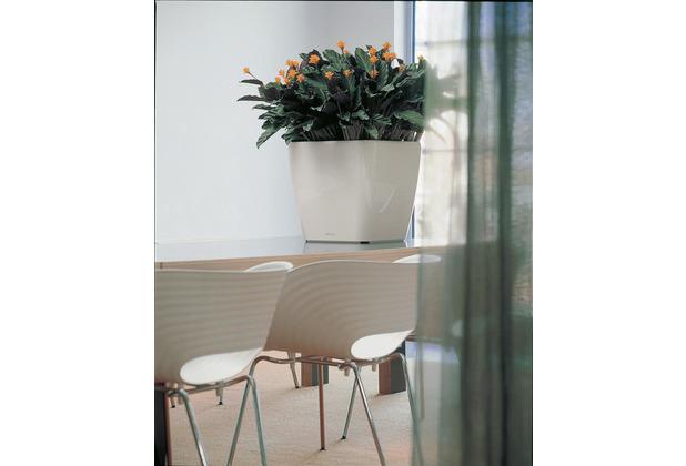 fleur ami Blumentopf Quadro, 35x35/33 cm, weiß, innen,