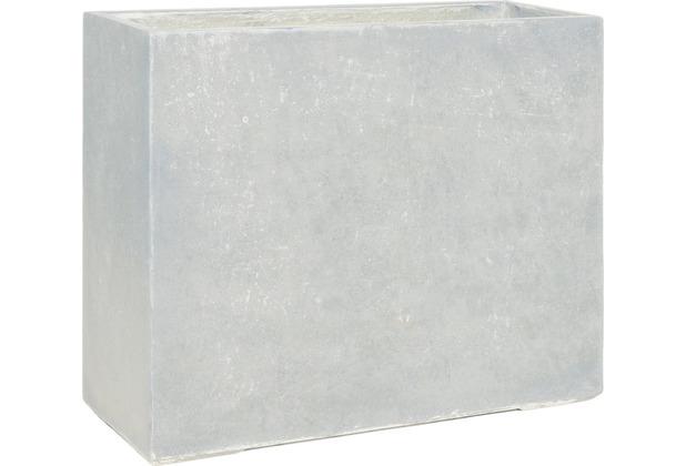 fleur ami DIVISION PLUS Raumteiler, 100x35/80 cm, natur-beton (X=ohne Rollenaufnahme)