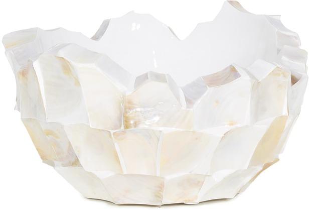 fleur ami Muschel-Schale Perlmutt weiß H 24 cm Ø 40 cm