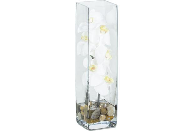fleur ami NATURAL ILLUSION Glasvase, 10/40 cm, Orchidee weiß, Steine