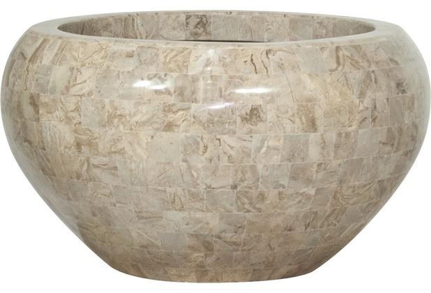 fleur ami Schale Geo Crown, 50/28 cm, cappuccino marble